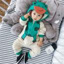 Infant winter clothes long sleeve hooded baby animal romper