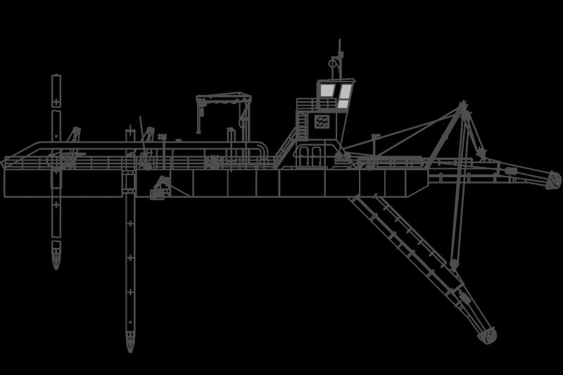 Картинка земснаряд схема очертания