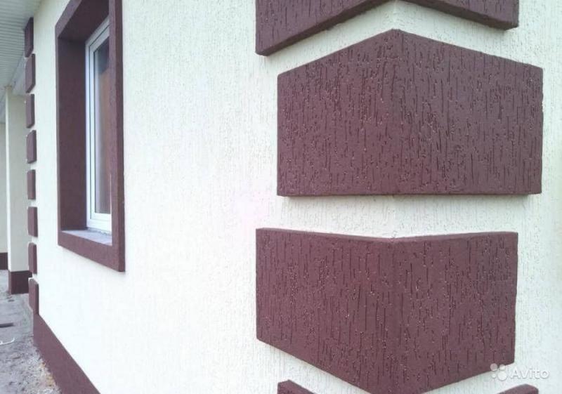 фасадная штукатурка дождик фото домов
